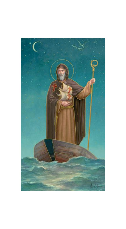 100-Pack - Saint Brendon Holy Card