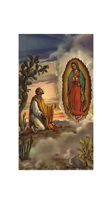 100-Pack - Sr Juan Diego with Our Lady Guadalupe Holy Card