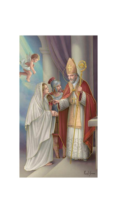 100-Pack - Saint Valentine Holy Card