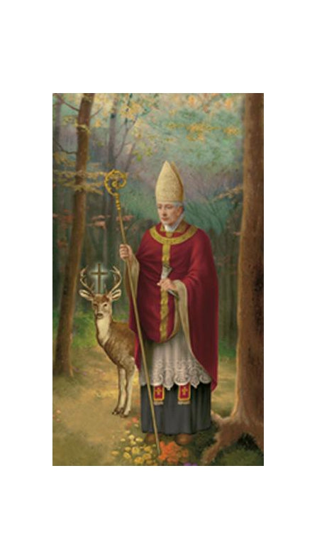 100-Pack - Saint Hubert Holy Card