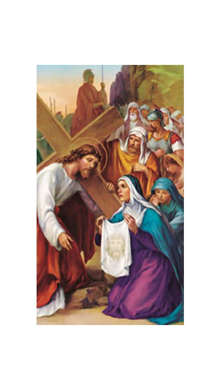 100-Pack - Saint Veronica Holy Card