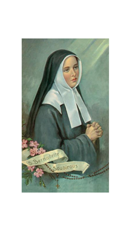 100-Pack - Saint Bernadette Holy Card