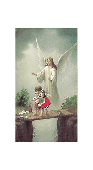 100-Pack - Guardian Angel Crossing Bridge Holy Card