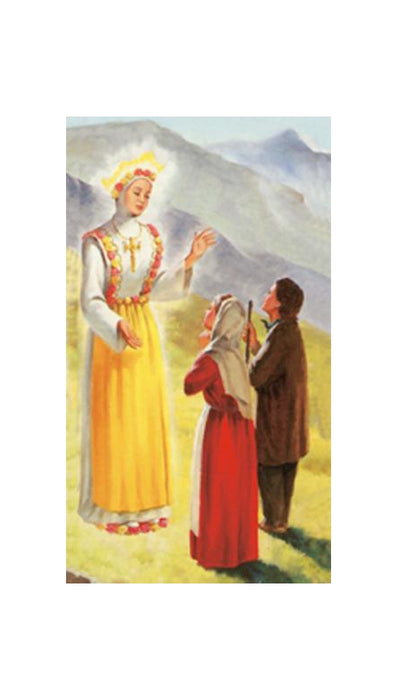 100-Pack - Our Lady Of Lasalette Holy Card