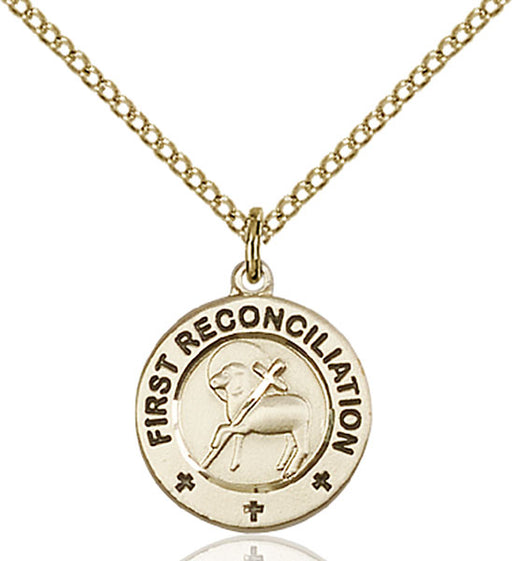 Gold-Filled First Reconciliation and Penance Necklace Set