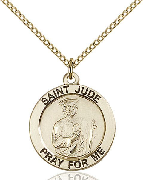 Gold-Filled Saint Jude Necklace Set