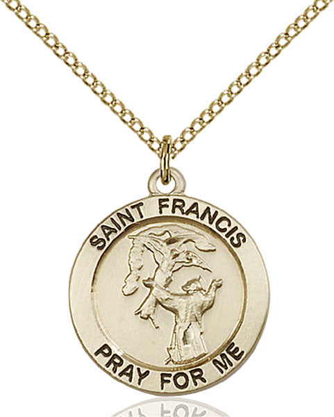 Gold-Filled Saint Francis Necklace Set