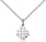 Sterling Silver Jerusalem Cross Necklace Set