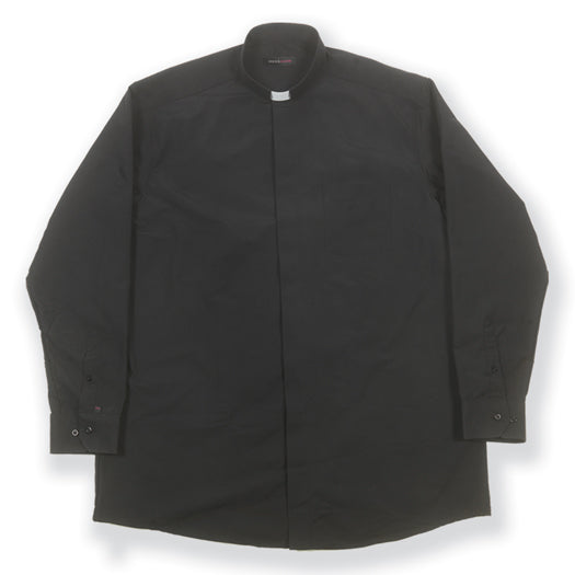 Long Sleeve Single Pocket Clergy Shirt Size 18 32/33