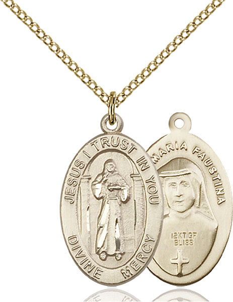 Gold-Filled Divine Mercy Necklace Set