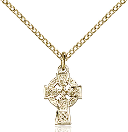 Gold-Filled Celtic Cross Necklace Set