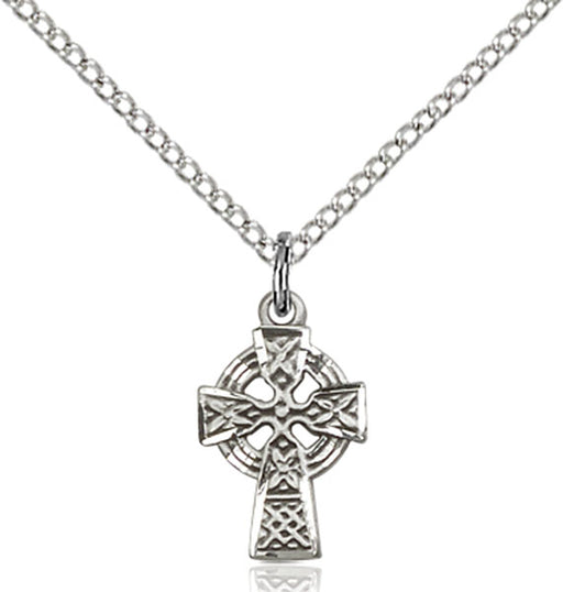 Sterling Silver Celtic Cross Necklace Set