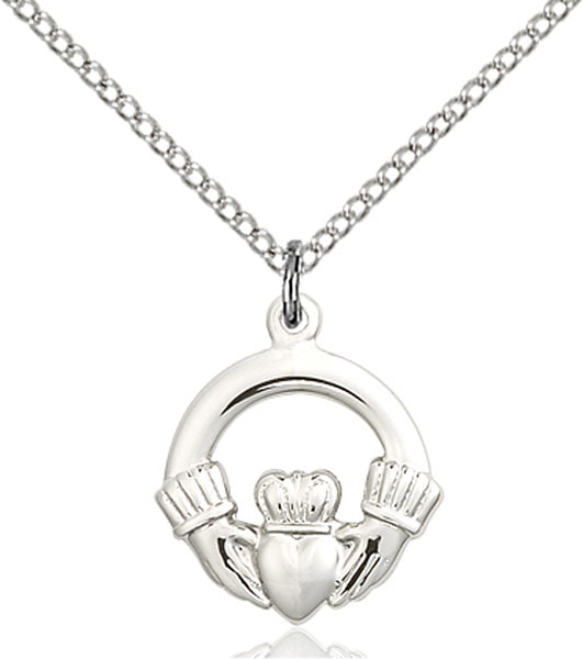Sterling Silver Claddagh Necklace Set