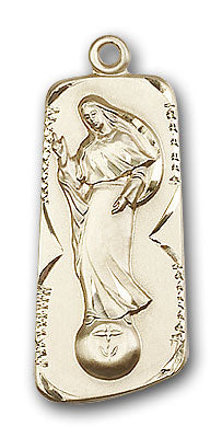 14K Gold Our Lady of Mental Peace Pendant - Engravable