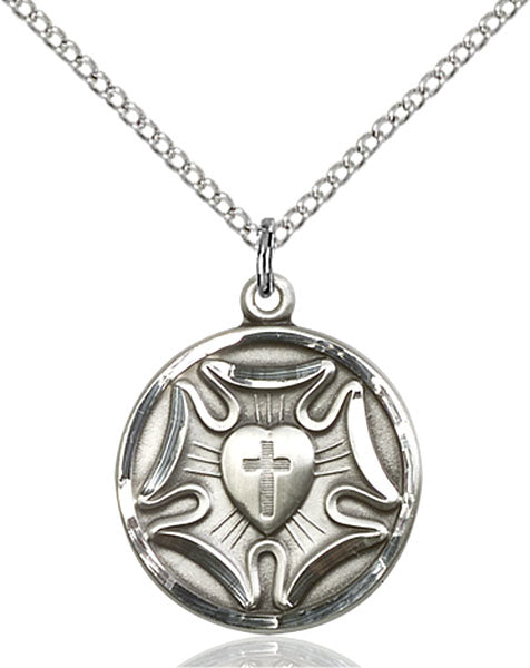 Sterling Silver Lutheran Necklace Set