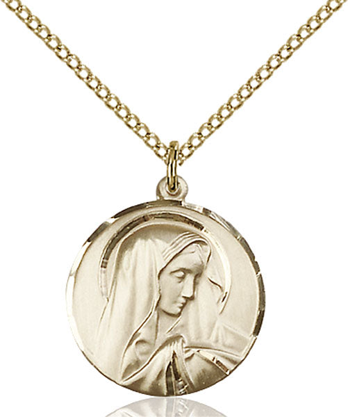Gold-Filled Sorrowful Mother Necklace Set
