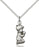 Sterling Silver Praying Boy Necklace Set