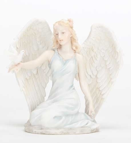 5-inchH Kneeling Angel With Dove