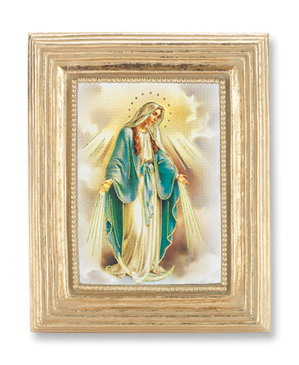 3 3/4-inchX4 1/2-inch Gold Frame Our Lady Of Grace 2.5X3.5-inchPrint