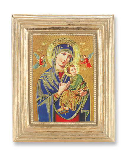 3 3/4-inchX4 1/2-inch Gold Frame Our Lady Of Perpetual Help 2.5X3.5-inchPrint
