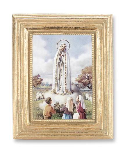 3 3/4-inchX4 1/2-inch Gold Frame Our Lady Of Fatima 2.5X3.5-inchPrint