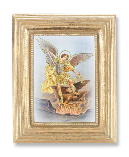 3 3/4-inchX4 1/2-inch Gold Frame Saint Michael 2.5X3.5-inchPrint