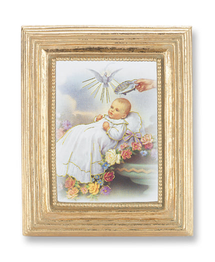 3 3/4-inchX4 1/2-inch Gold Frame Baptism 2.5X3.5-inchPrint