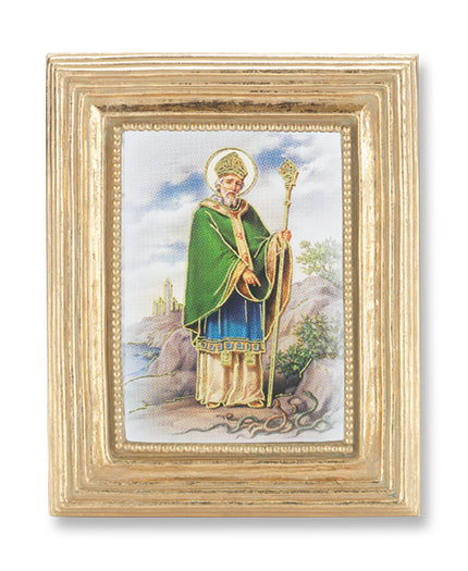 3 3/4-inchX4 1/2-inch Gold Frame Saint Patrick 2.5X3.5-inchPrint