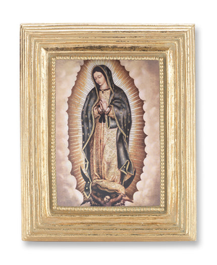 3 3/4-inchX4 1/2-inch Gold Frame Our Lady Of Guadalupe 2.5X3.5-inchPrint