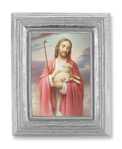 3 3/4-inchX4 1/2-inch Silver Frame Good Shepherd 2.5X3.5-inchPrint