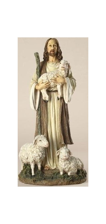 12-inch Jesus the Good Shepherd Figurineure