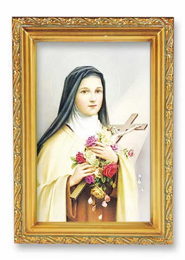 St Therese Wood Tone Frame 4 1/2 X 6 1/2