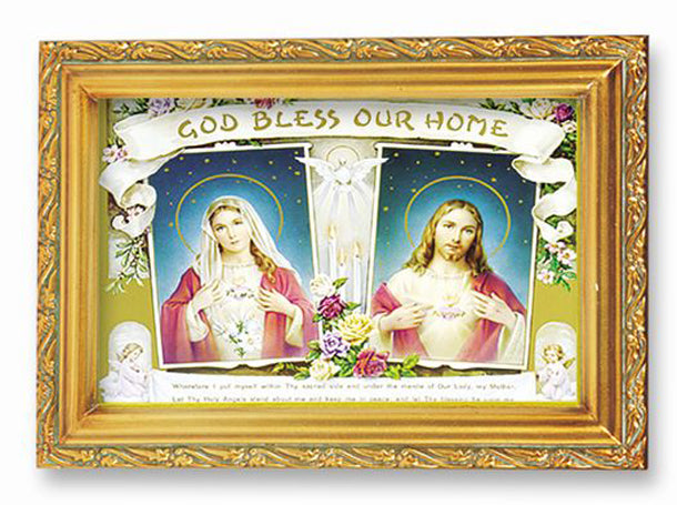House Bless Wood Tone Frame 4 1/2 X 6 1/2