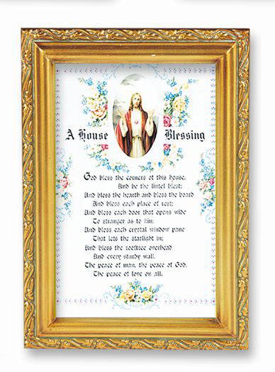 House Blessing Wood Tone Frame 4 1/2 X 6 1/2