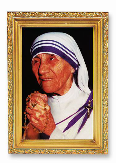 Mother Teresa Wood Tome Frame 4 1/2 X 6 1/2