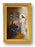 Saint Faustine with Divine Mercy Antique Gold Frame Glass