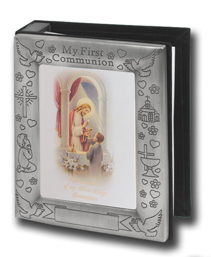 Pewter Finish Photo Album Holds 72 Photos Trad 4 X 6-inch