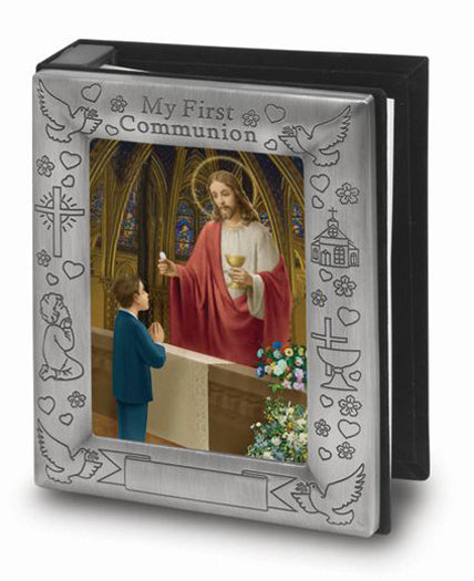 Pewter Finish Photo Album 4 X 6 Holds 72 Photos Cert