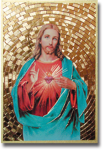 Sacred Heart Of Jesus Mosaic Plaque