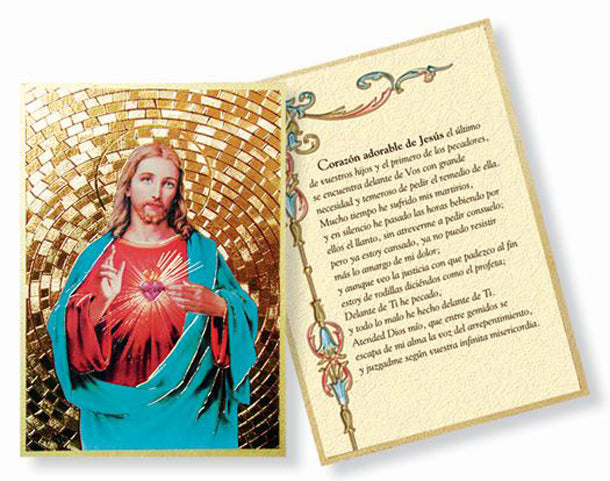 Sacred Heart Mosaic Plaque