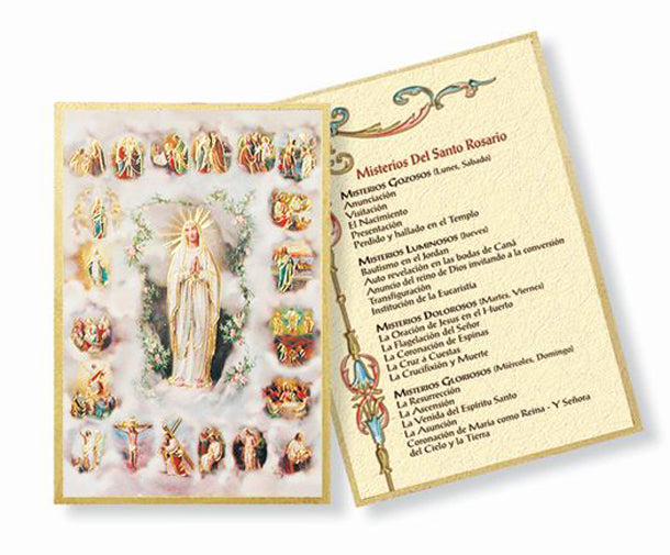 Mysteries Of Rosary Mosaic Plaque
