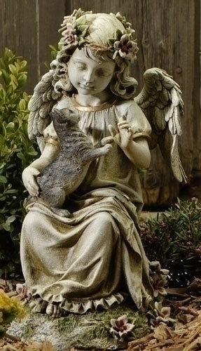 16-inch Angel With Kitten