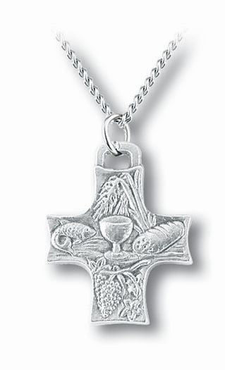 1-inch Eucharistic Cross On 18-inchBoxd Chain Boxed