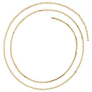 18-inch Diamond Cut Cable Chain with Lobster - 14K Yellow Gold