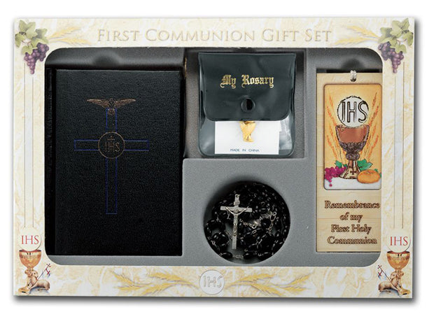 Blessed Trinity Set with New Mass And Skivertex Covered Book