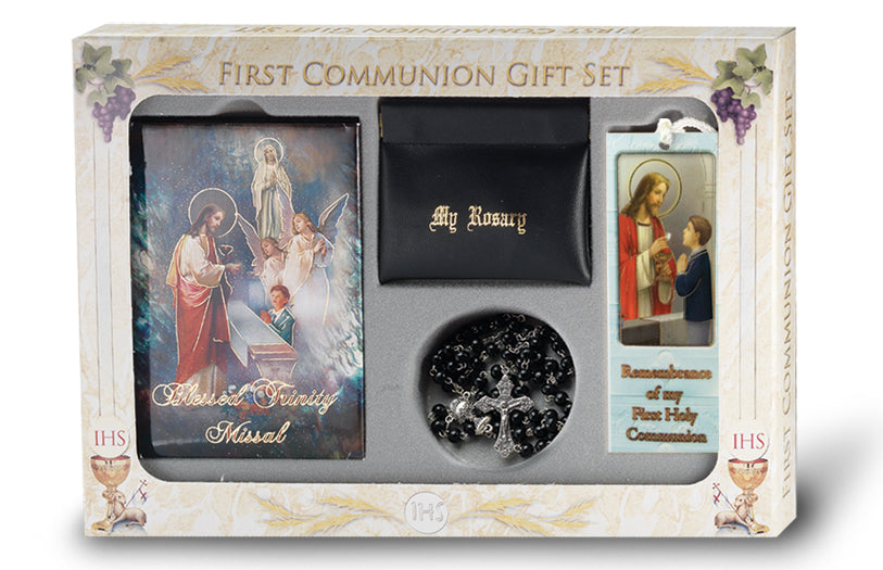 Blessed Trinity Missal Pearlizd Communion Set