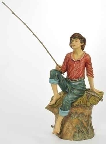 50-inch Jacob Fisherman Figurine