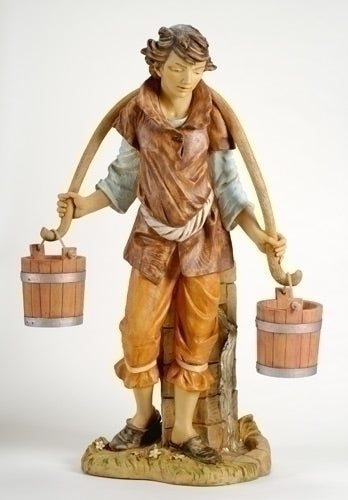 50-inch Noah With Buckets Figurine