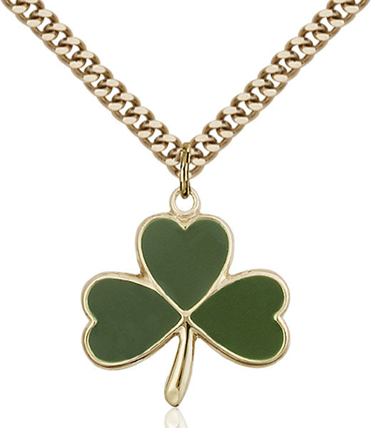 Gold-Filled Shamrock Necklace Set