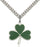 Sterling Silver Shamrock Necklace Set